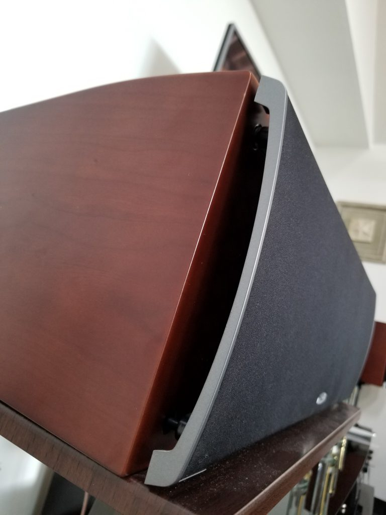 The Polk center channel speaker in this picture is quite heavy at about 30 pounds.