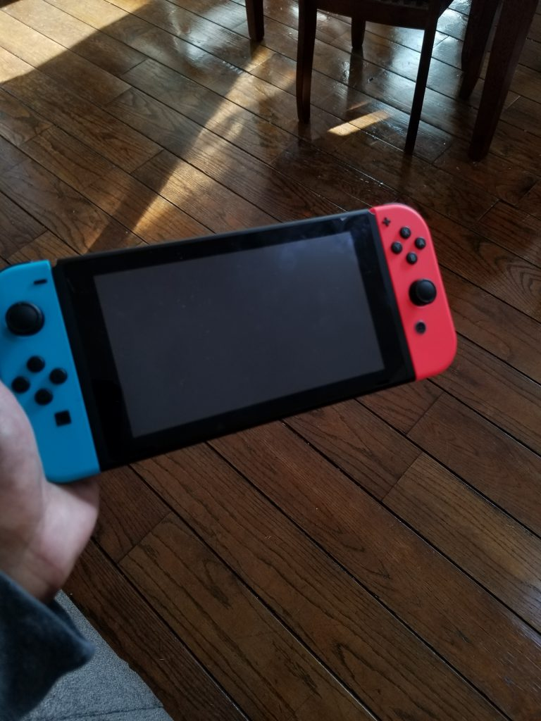 Another angle of the Nintendo Switch