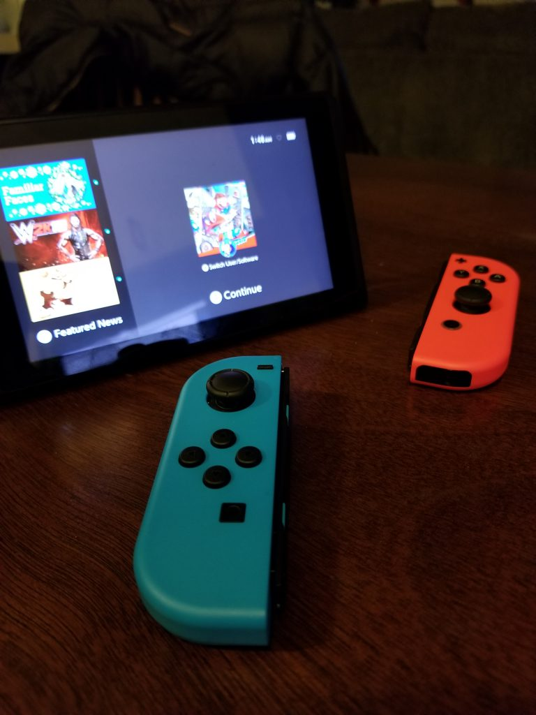 Joycons on the nintendo switch