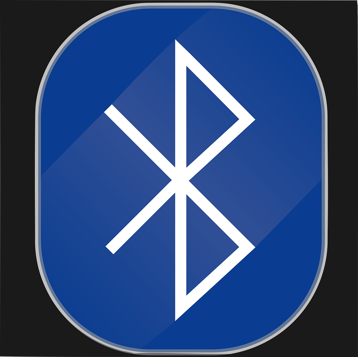 In this picture, a Bluetooth logo is shown
