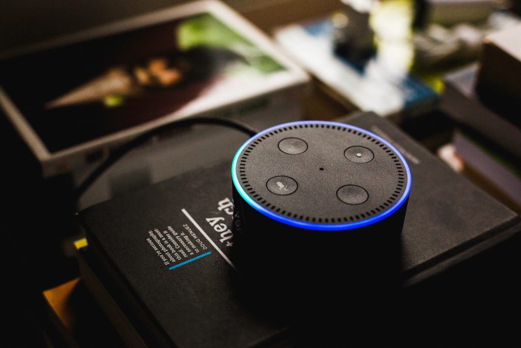An Amazon Alexa Device is shown