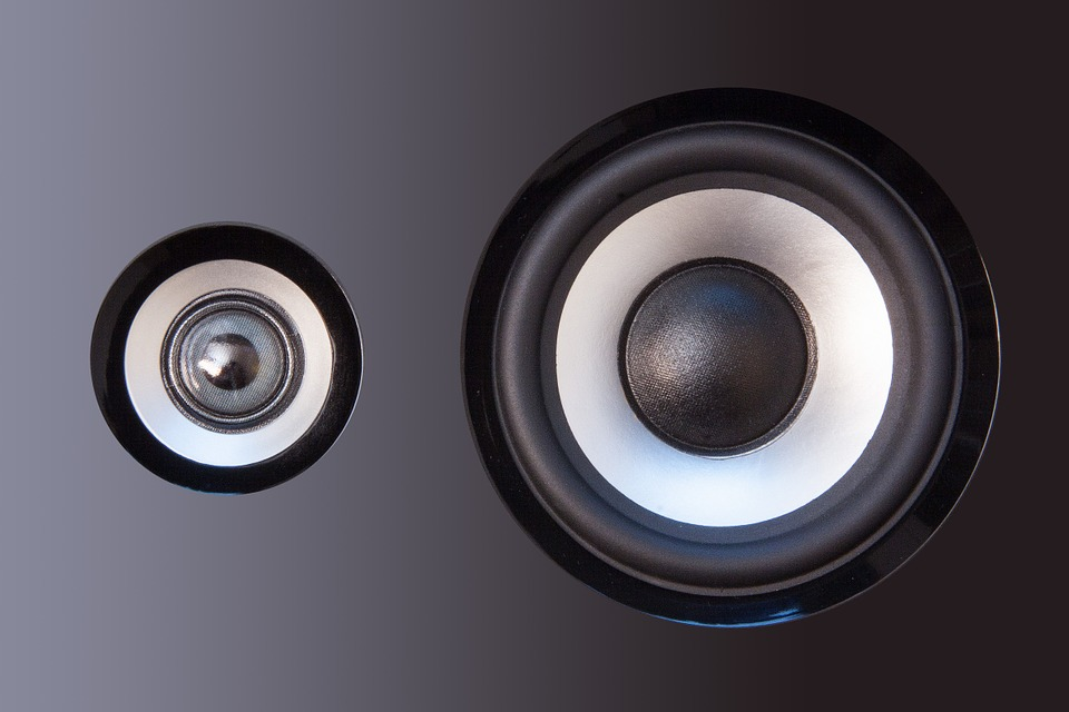 A picture of speaker drivers is shown