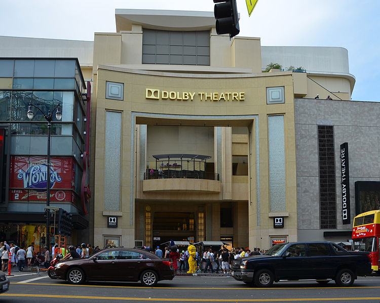 In this picture, Dolby Theater is shown.