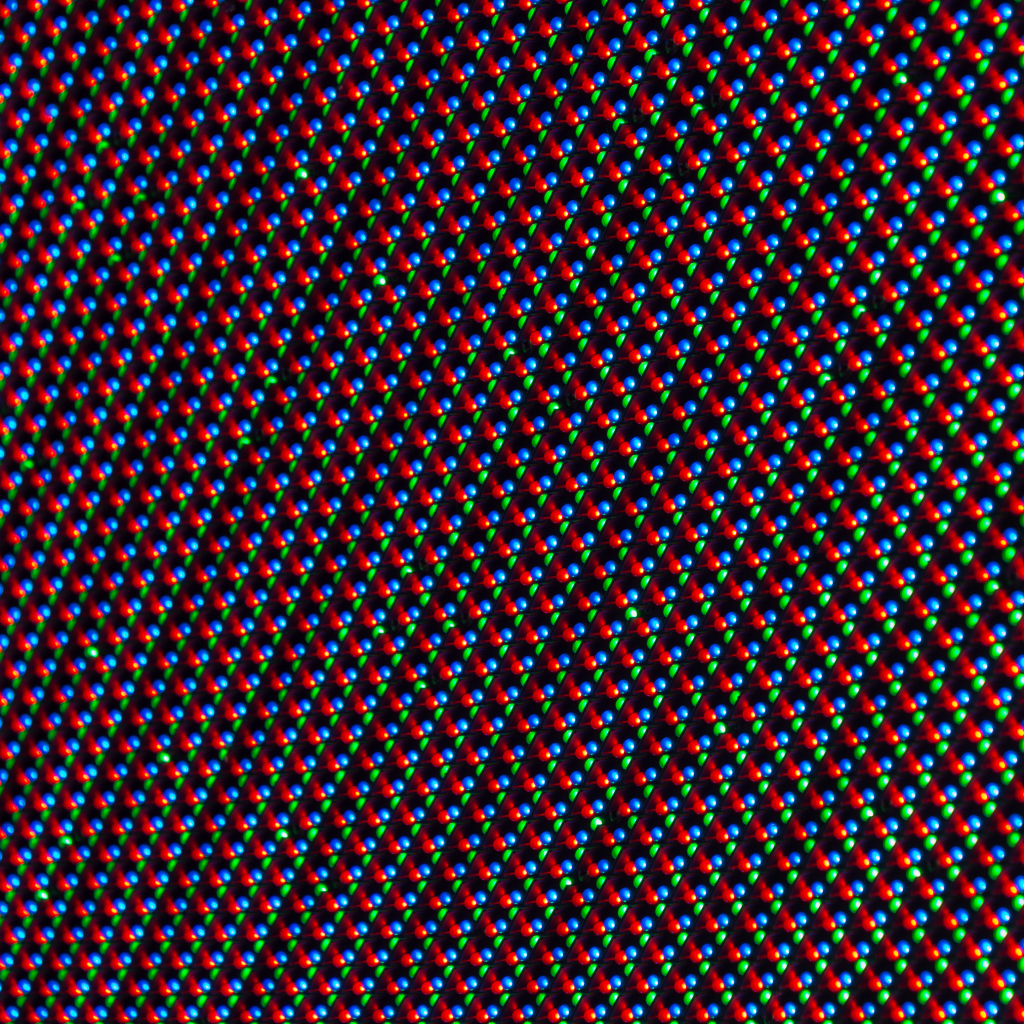 A picture of pixels in a Micro LED TV