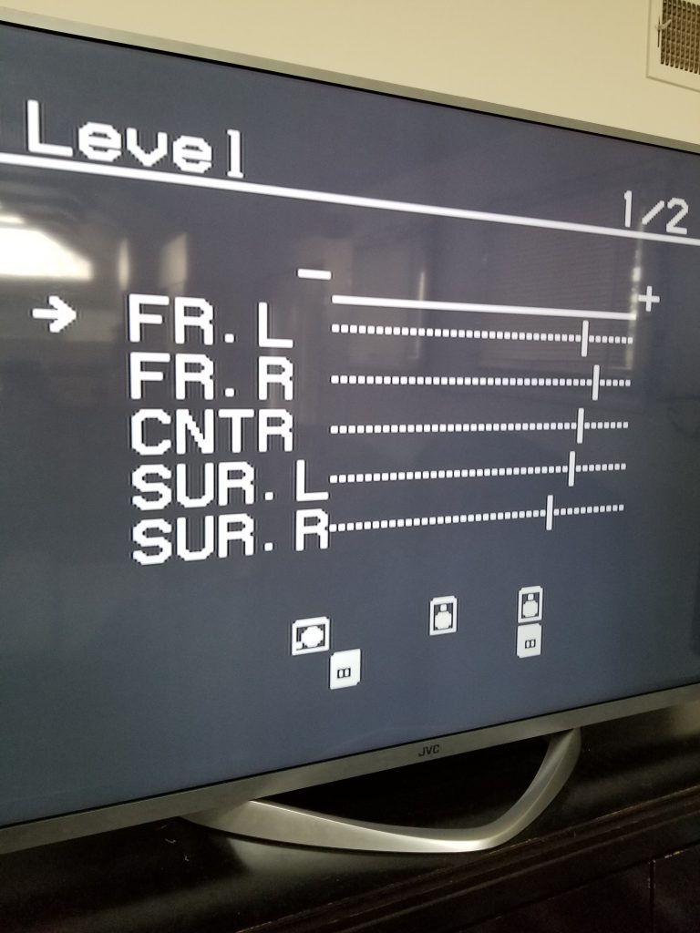 a picture of the settings screen in a receiver