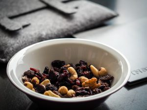 A picture of trail mix is shown