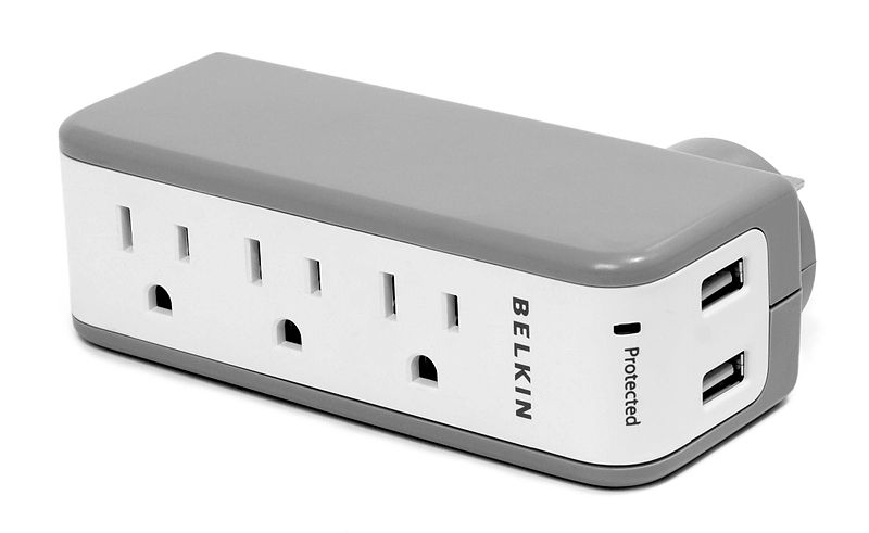 A picture of a surge protector