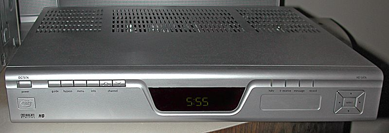 A picture of a cable box