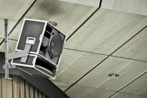A picture of an outside speaker