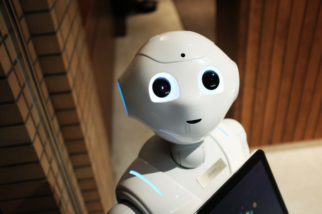 A picture of a robot with artificial intelligence