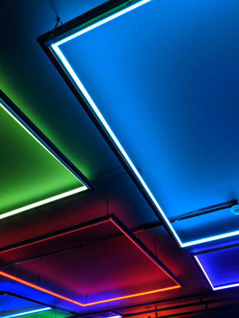 A picture of led lights