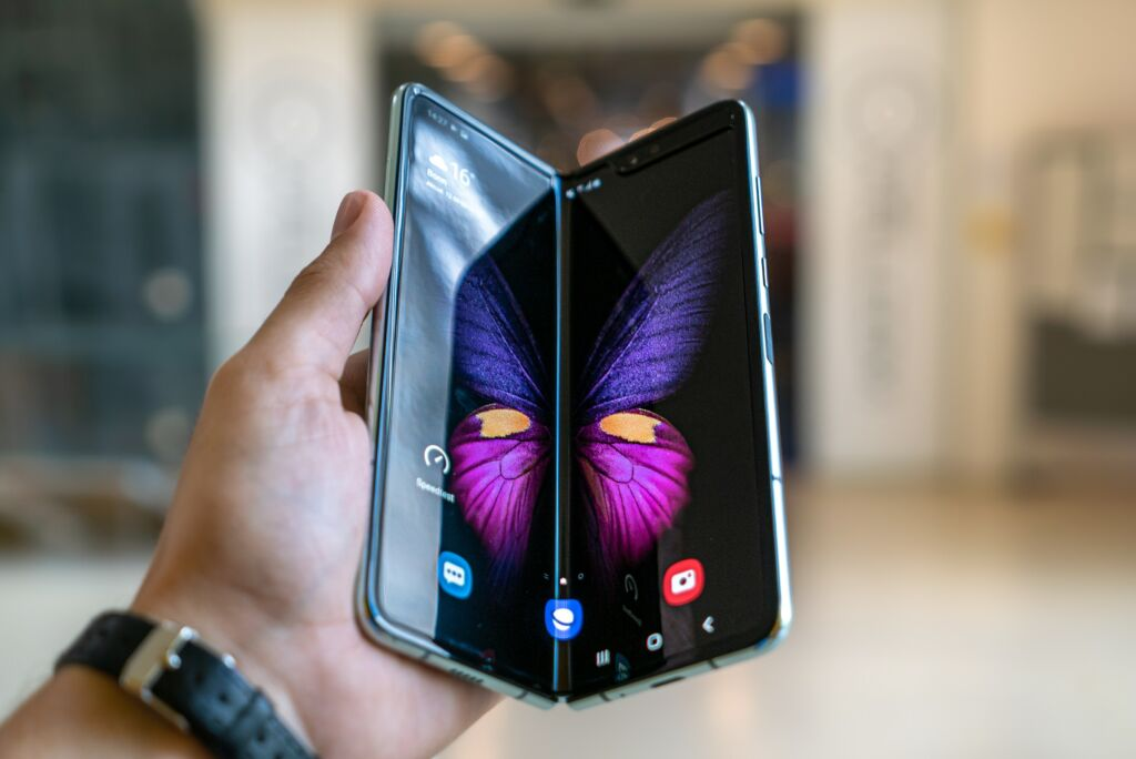 A picture of a foldable screen